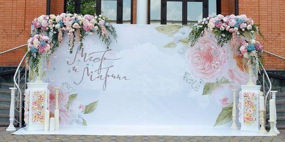 Kích thước backdrop chuẩn cho đám cưới thêm trang trọng